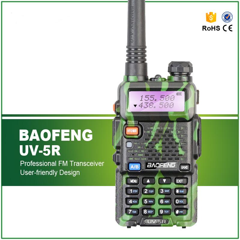 Original BAOFENG UV-5R Oliver Green Built-in LED Flashlight FM Radio Dual Band FM Transceiver UV-5R Free Headset(China (Mainland))
