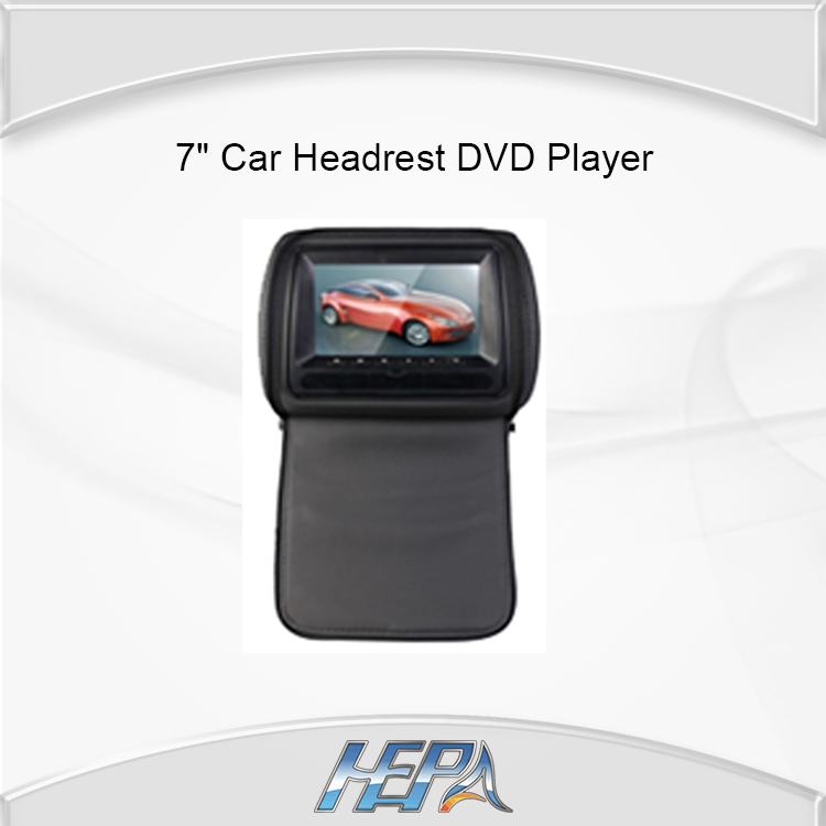 """HEPA:7"""" digital panel SONY Lens Car Headrest DVD Player Stereo with touch panel MP5 IR 32bit GAME USB SD FM(China (Mainland))"""