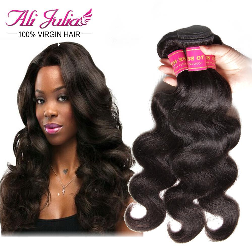 Julia Hair Products Burmese Virgin Hair Body Wave 4 pcs lot Burmese Body Wave Hair Weaves Natural Black Human Hair Extension(China (Mainland))
