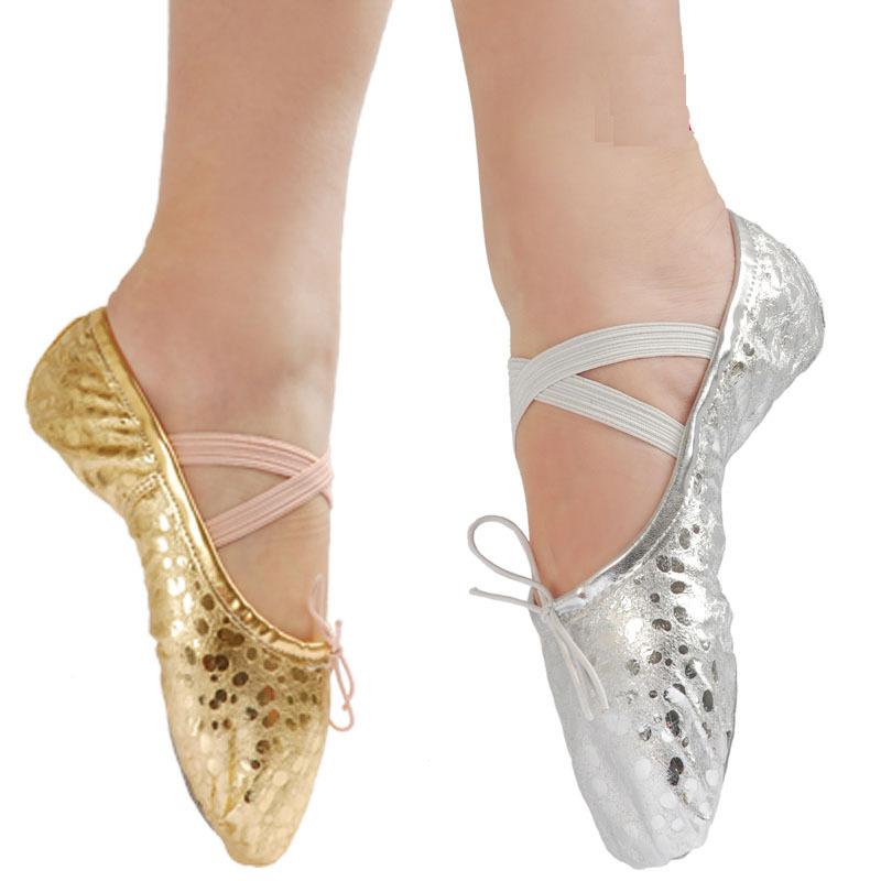 US size is not right Buy as CM both for kids and adult 22~45 children soft sole girls ballet shoes Women Ballet Dance Shoes(China (Mainland))