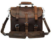 2015 Real Guaranteed 100% Genuine Leather Men Bag High Quality Crazy Horsehide for Large Capacity Hip-hop Cool Travel Bags 2015