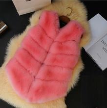 New Arrival Fox Fur Vest Women's Winter Coat Short Female Plus Size Fur Vests Pelt gilet 5 Colors High Quality Drop Shipping (China (Mainland))