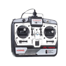 Newest 16 in 1 RC 6CH Simulator JTL-0904A Real Flight Model 2 With CD Disk & Transmitter For Quadcopter Helicopter Free Shipping(China (Mainland))