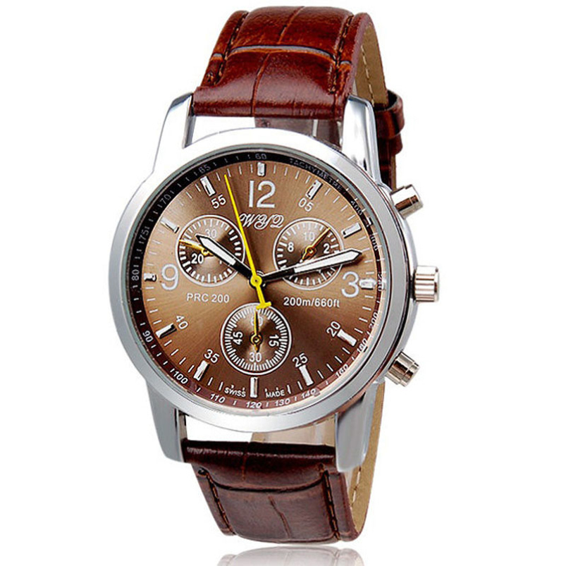 Splendid New Luxury Fashion Crocodile Faux Leather Mens Analog Casual Watch Cool Men Watch Watches