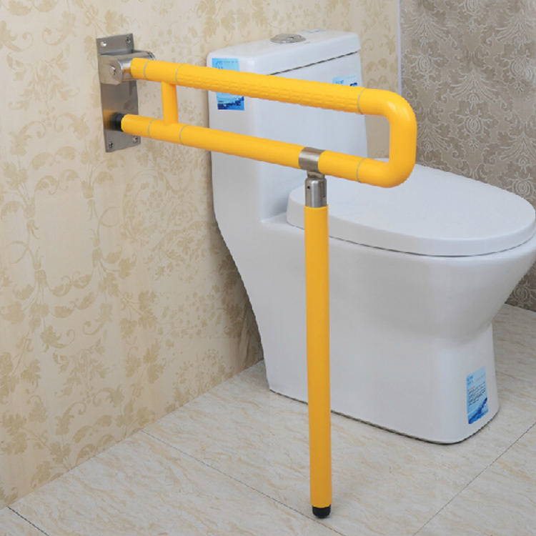 toilet with a folding leg basin bathroom handrail handrails disabled