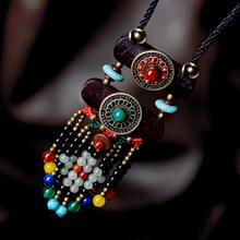 COBRE ACCESORIOS de Recuerdos de la vendimia collar largo suéter collar de madera, nueva étnico Tibetano turquesa collar de joyas de ágata,(China (Mainland))