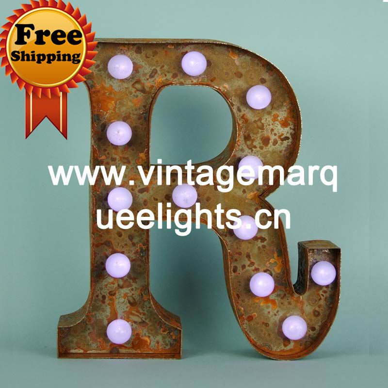 valentine diy led channel letters light of 9 inch Vintage Marquee Lights,vegas marquee letter lights and FREE SHIPPING(China (Mainland))