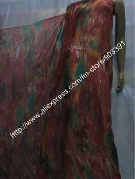 Fashion 100% Murberry Silk Printed Chiffon Fabric For Lady's Material C0134