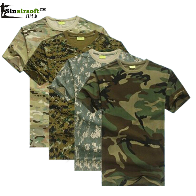 hunting camouflage t shirt men breathable army tactical combat t shirt. Black Bedroom Furniture Sets. Home Design Ideas