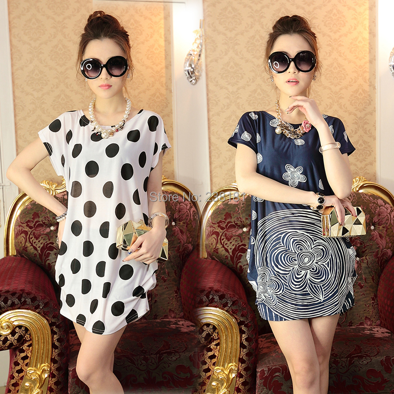 2015 women summer dress big plus size XXXL floral print ladies dresses short sleeve o-neck bohemian loose vestidos - Sunflower Fashion store