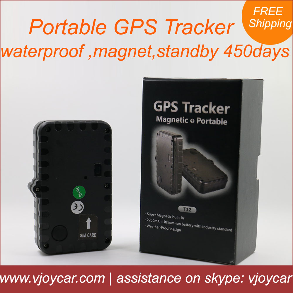 China top quality portable gsm gps tracker with magnet, long battery life 450days, waterproof for vehicle human & asset tracking(China (Mainland))