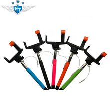 New Arrival Portable Extendable Self Photo Monopod Handheld Holder Wired Controlled Universal Multi Color Super Upgrade(China (Mainland))