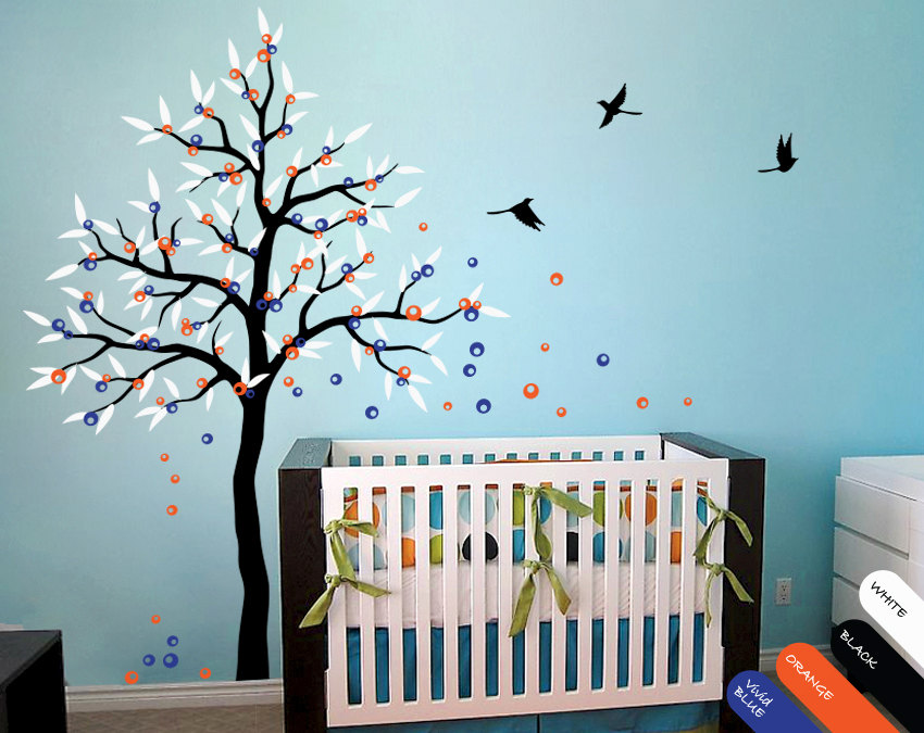 Home Office Tools Tree Wall Decals For Nursery Promotion