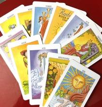 Tarot cartes en plastique étanche protéger Tarock tarokki rider tarocco tapo anglais puzzle mystérieux jeu cartes à jouer(China (Mainland))
