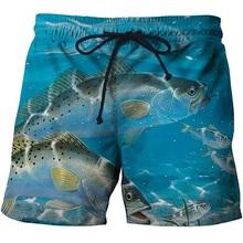 Peixe 3 d impressão Mens Swim Shorts Surf Wear Board Shorts 2018 Verão Swimsuit Boardshorts Trunks Curto tamanho s-6xl(China)