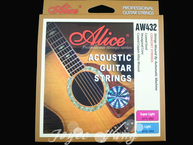 Alice AW432 Light Acoustic Guitar Strings Plated S...