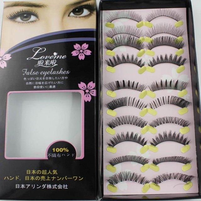 Free shipping,32box/lot ,high quality,(10pairs/box)Beautiful False Eyelash (LOVE)