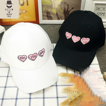2016 fashion summer dress baseball cap ,custom your own logo snapback hat, with a lovely heart and MAK YOU HAPPY letter cap