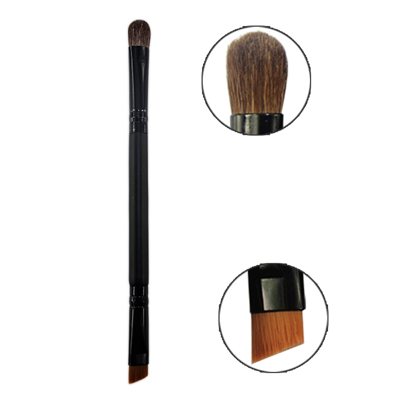 2Pcs Metal Handle Cosmetics Eye Shadow Brush Horse Hair Blending Eyeshadow Beauty Brushes Angled Brush Foundation Make Up Tools(China (Mainland))