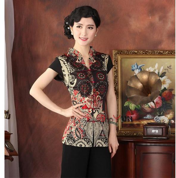 Hot New Chinese Traditional Women Clothing Summer Short Sleeve Blouse Vintage Button Tang Suit tops  M L XL XXL XXXL 4XL TY13Одежда и ак�е��уары<br><br><br>Aliexpress