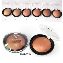 Miss Rose Brand Beauty Face Blush Makeup Baked Cheek Color Bronzer Blusher Palette Highlight Cosmetic Shadow Professional New(China (Mainland))