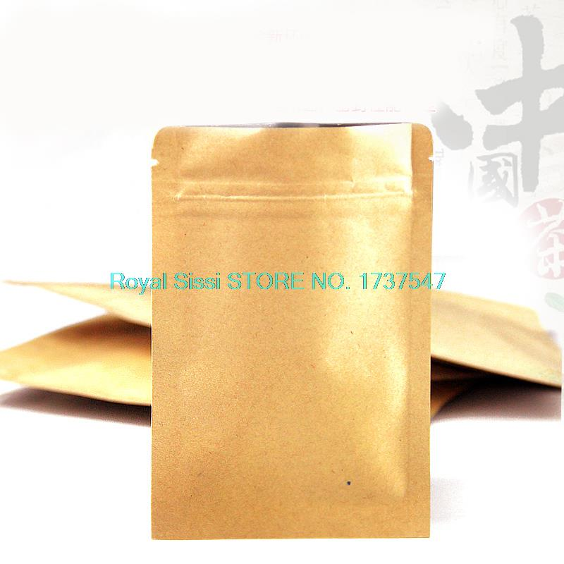 Zip lock bags 20pcs/lot 8cm*11cm*140mic High Quality Food Kraft Paper bag With Zipper Top Nuts Packaging Bags Wholesaler(China (Mainland))