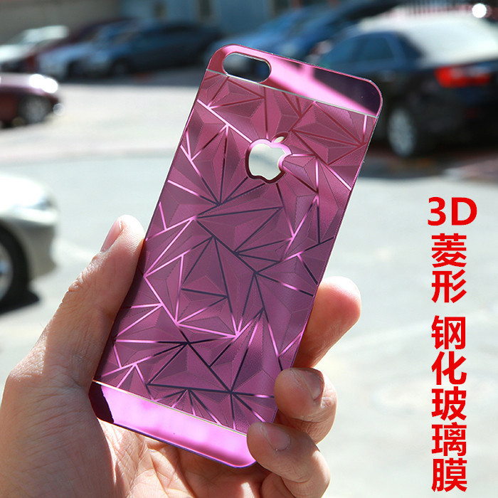 Luxury 3D Diamond Glass Film For Apple iphone 6 plus Diamond Glass Steel Handle three-dimensional Film For iphone 6 plus Film 3d(China (Mainland))