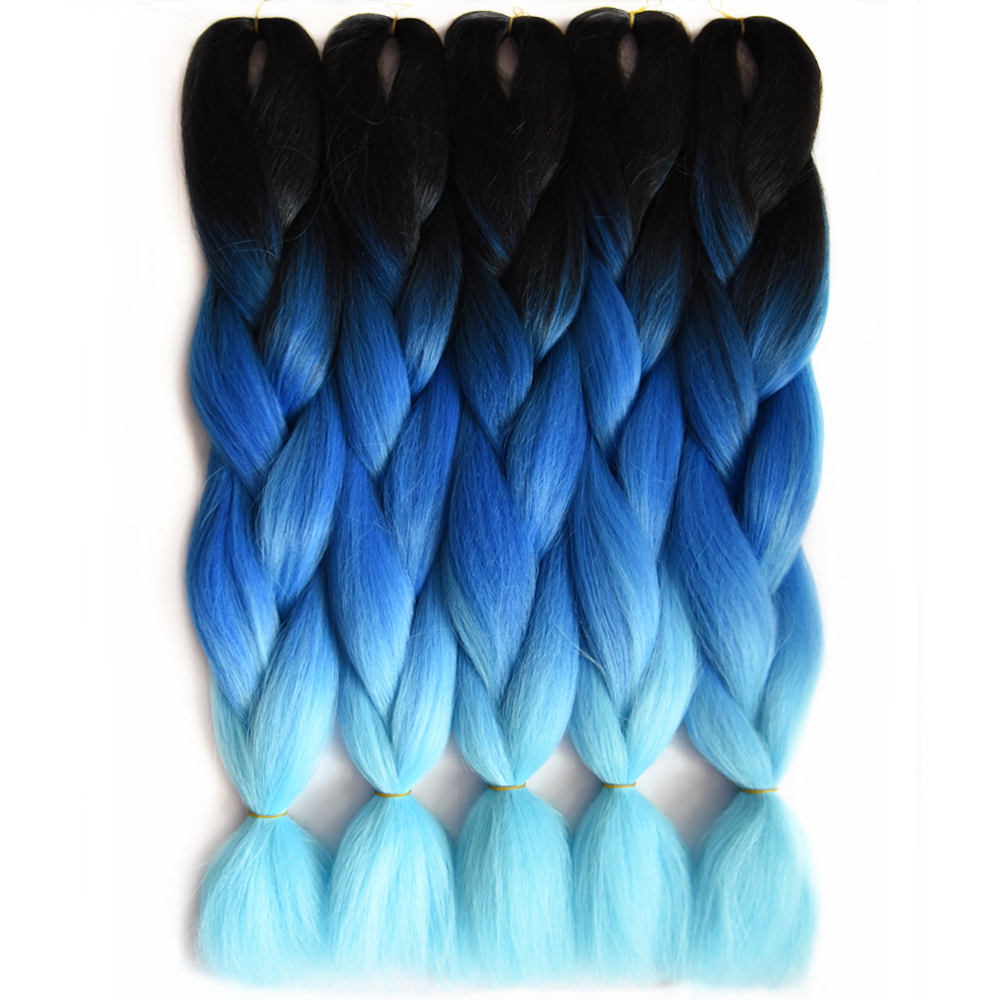 Feilimei Ombre Braiding Hair 60cm 100g Synthetic Jumbo