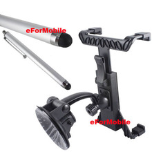 Rotating Tablet Holder Tablet PC Stand Window Sunction Holder Stylus For Acer Iconia Tab A3 A20