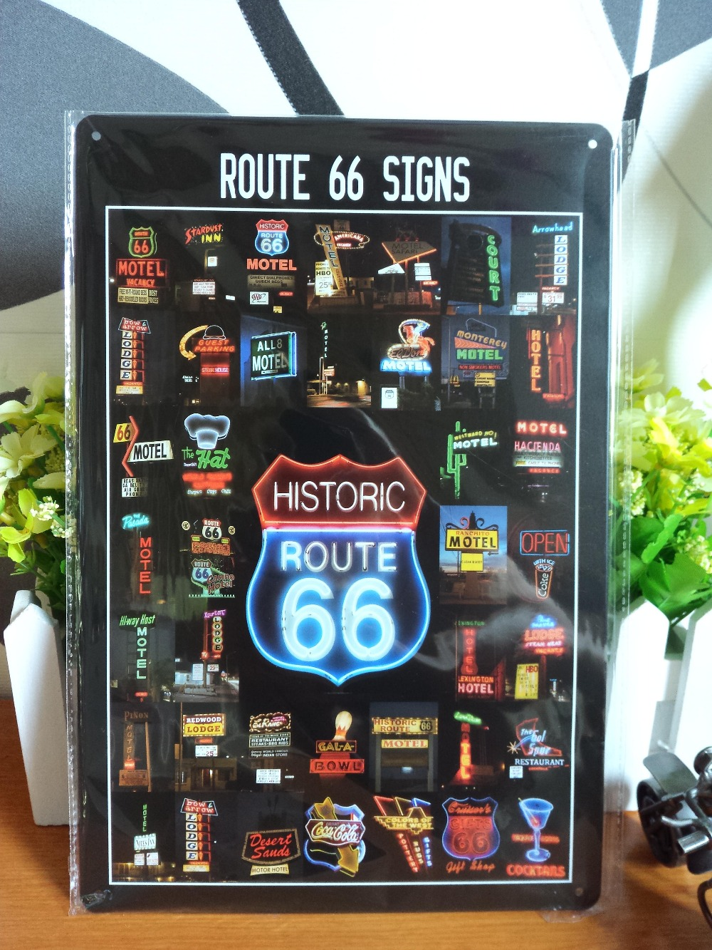 Vintage metal painting retro metal tin sign 20cm*30cm Route 66 Signs art posters wall stickers home cafe bar pub wall decor(China (Mainland))