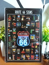 Buy Vintage metal painting retro metal tin sign 20cm*30cm Route 66 Signs art posters wall stickers home cafe bar pub wall decor for $6.78 in AliExpress store