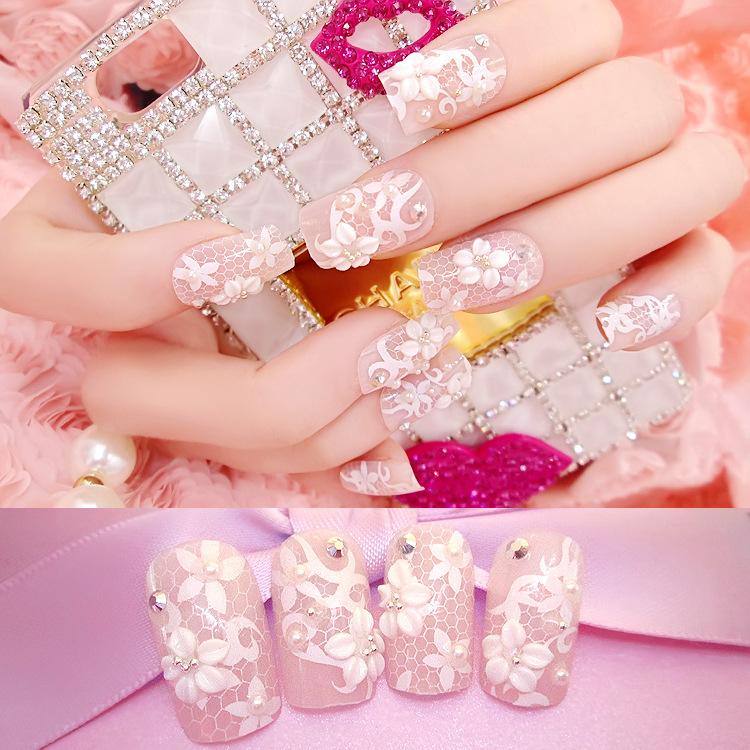 New 24 pcs Full Nail Tips Acrylic Transparent False Nails Style False Fingernails fashion printing Fake Nails Free Nail Glue(China (Mainland))