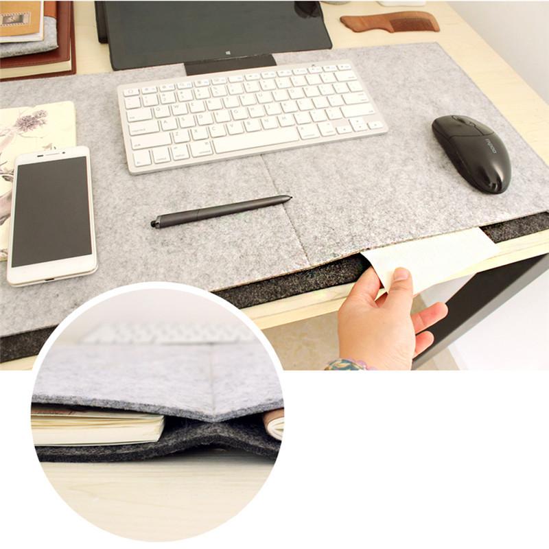 Fashion Durable Computer Desk Mat Modern Table Felt Office Desk Mat Mouse Pad Pen Holder Wool Felt Laptop Cushion Desk Mat Pad(China (Mainland))