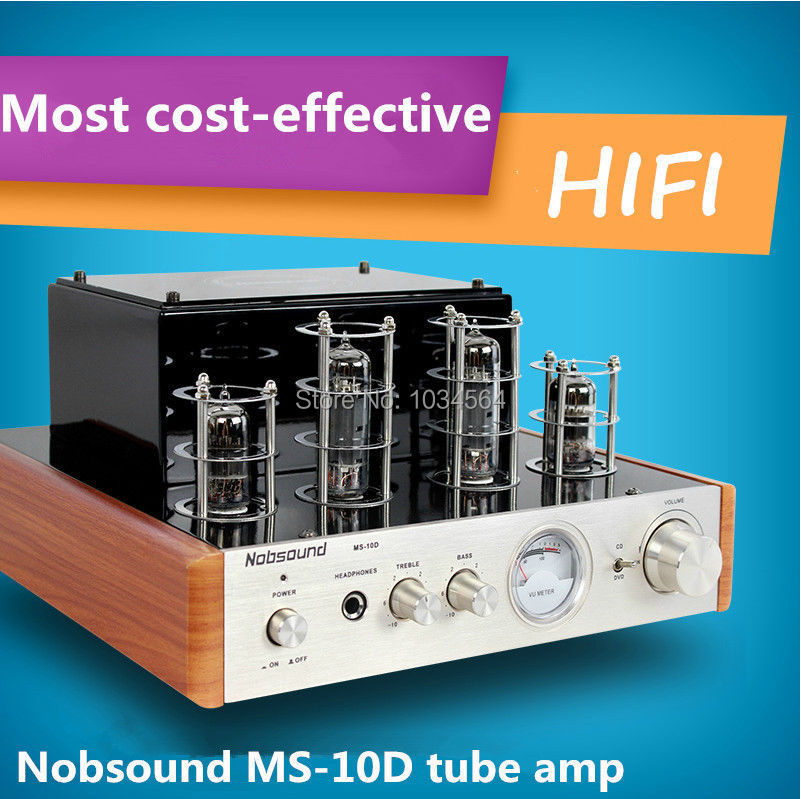 Music hall Nobsound MS-10D tube amp amplifier power amplifier excellent sound AQ for hifi amplifier (100% brand new)(China (Mainland))