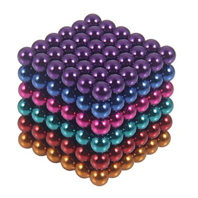 Six colors of a New Style 216 x 5mm Magic Magnet Magnetic DIY Balls Sphere Neodymium Cube Puzzle magnetic isolation box(China (Mainland))