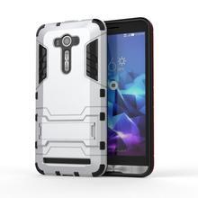 Asus Zenfone 2 Laser ZE550kl Case ZE551KL Z00LD Slim Shockproof Robot Armor protector Rugged Rubber Hard Back Stand Cover (< - Phone case 001 store