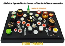Genuine ORCARA doll house miniature food scene Classic Korean cuisine model kit 1/12 scale 8sets / box kitchen toy for children(China (Mainland))