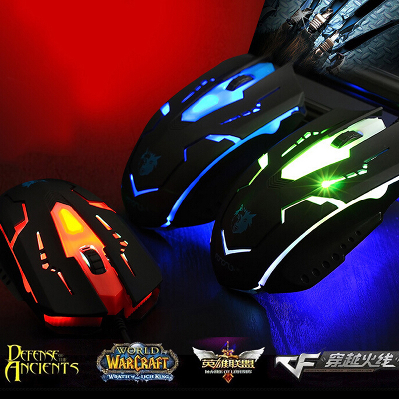 NEW Wired Gaming Mouse Mice 3 Buttons Optical Mouse Mice Maus Bloody X7 Fare Ranton for Computer PC Laptop Dota 2 LOL Deathadder(China (Mainland))