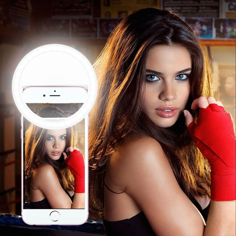 Portable Selfie Flash LED Ring Light Smartphone Camera Night Darkness Selfie Enhance Photography for iPhone 7 6plus Samsung Sony(China (Mainland))