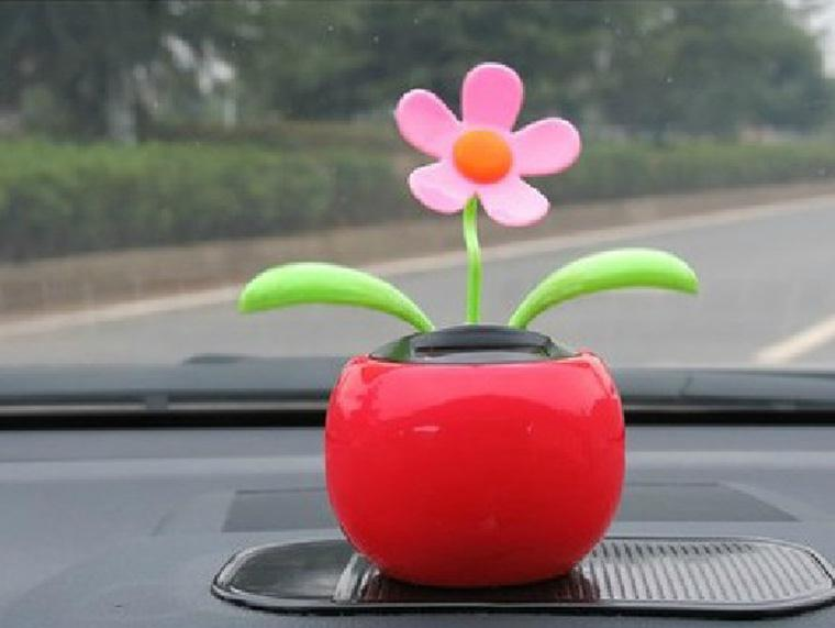 New Arrival Hot Selling Moving Dancing Solar Power Flower Flowerpot Swing Solar Car Toy Gift Home Decorating Plants(China (Mainland))
