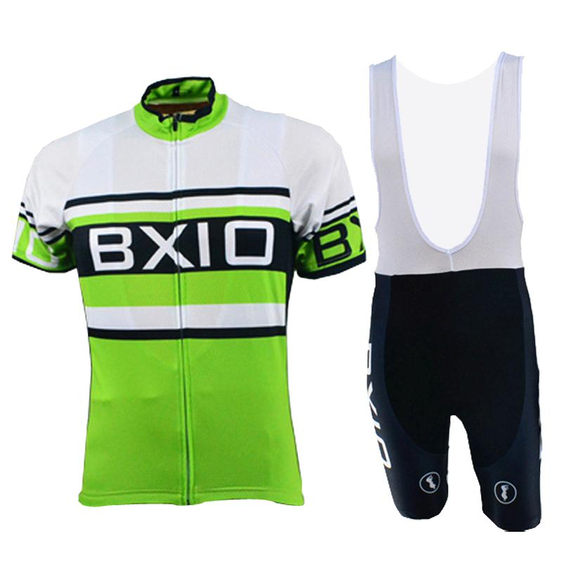 BXIO Cycling Jerseys Ropa De Ciclismo Profesional Bicycle Clothing Summer Short Sleeve Green Raiders Jersey Cycling Sets 009(China (Mainland))