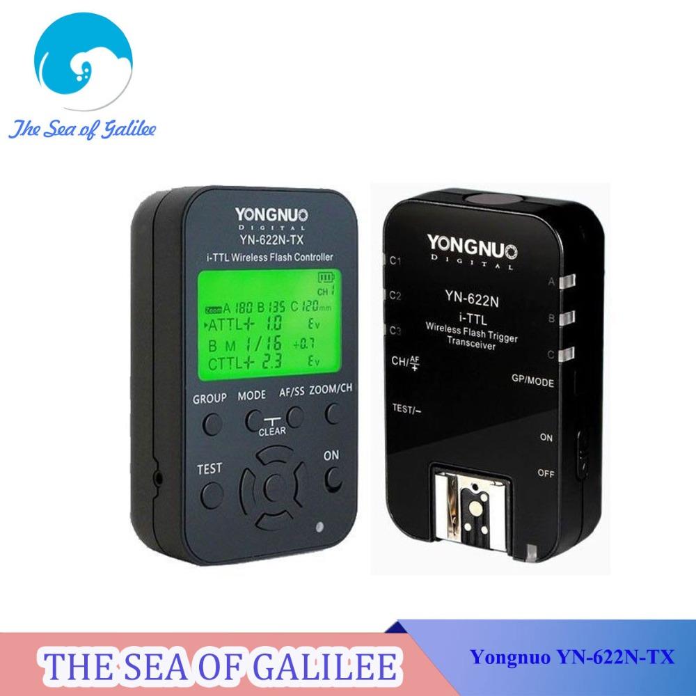Yongnuo 1 x YN-622N-TX + 1 x RX YN-622N i-TTL LCD Wireless Flash Trigger Set for Nikon D800 D800E D800S D600 D610 D7200 D7100<br><br>Aliexpress