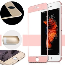 New Front + Back Premium Colorful Mirror Tempered Glass Film Screen Protector for iPhone 6 With Dust Removal Sticker Clean Paper