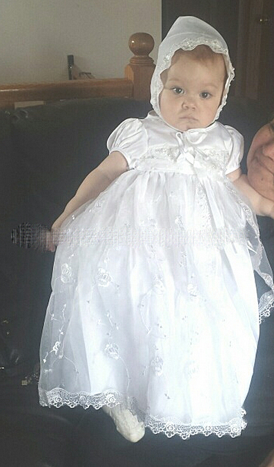 brand white christening baby girl dress lace embroidery flower girl wedding dress baptism toddler girl dress with pearls<br><br>Aliexpress