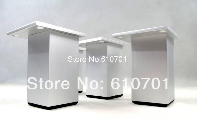 4pcs Metal Aluminium alloy Furniture Cabinet Bed Sofa Leg Feet 100mm Height(China (Mainland))