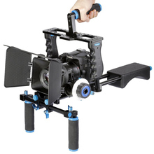 Buy DSLR Video Stabilizer Shoulder Mount Rig+Matte Box+Follow Focus+Cage Canon 5D Mark III 5D2 60D 70D 7D 6D DSLR Cameras for $238.00 in AliExpress store