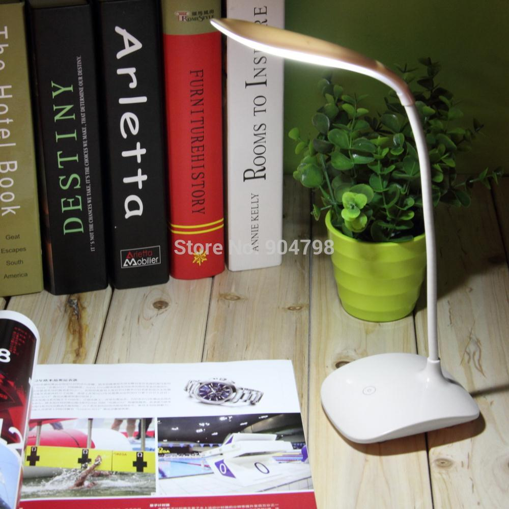 Adjustable USB Rechargeable Touch Sensor LED Reading Light Desk Table Lamp(China (Mainland))