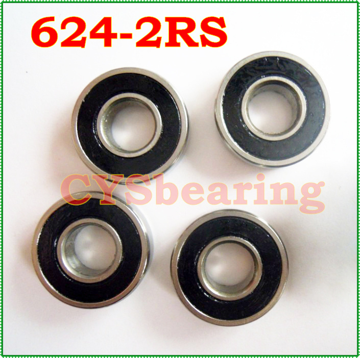 double Rubber sealing cover deep groove ball bearing 624-2RS 4*13*5 mm(China (Mainland))