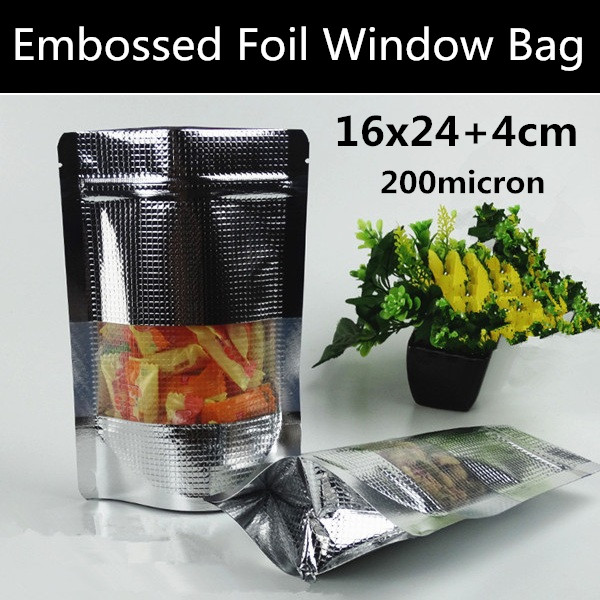 New style 100pcs 16x24 4cm 200micron silver square for 16 x 24 window