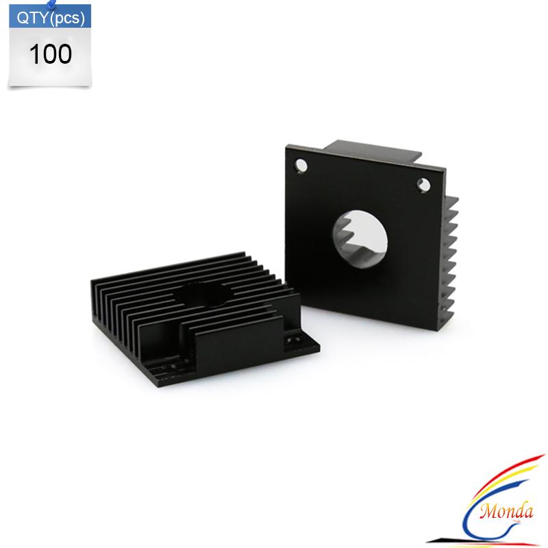 100 Pcs Lot 3D Printer Parts Makerbot MK7 MK8 40 40 11mmHeatsink Cooling Fin Aluminum Heat